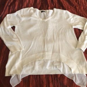 Elegant white sweater